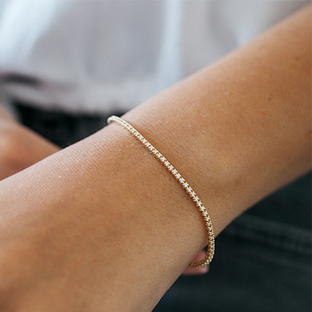 Petit Tennis Bracelet Yellow Gold